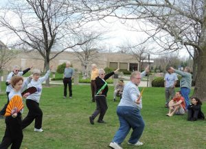 TAMA Students Perform the Tai Chi Fan Form