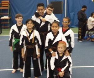 kids karate competition team